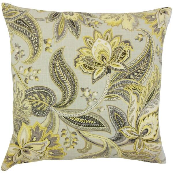 Gitana Floral Euro Sham Gold Silver