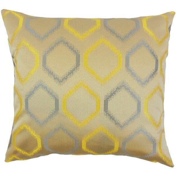 Connolly Geometric Euro Sham Yellow