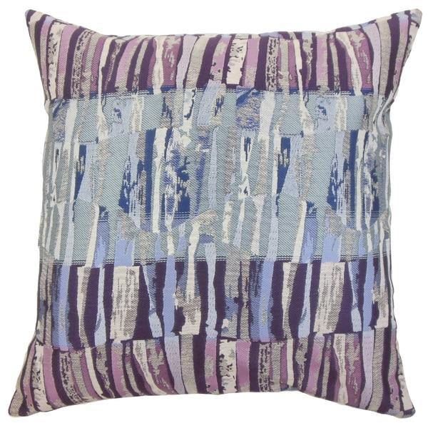 Prunella Stripes Euro Sham Violet