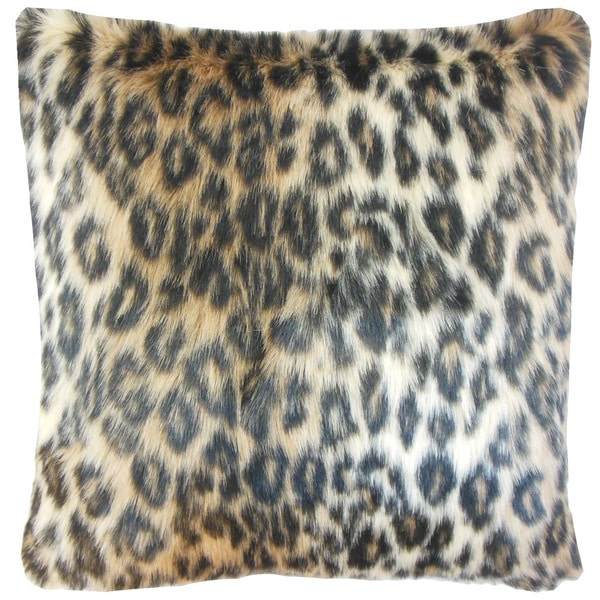 Valeska Faux Fur Euro Sham Brown