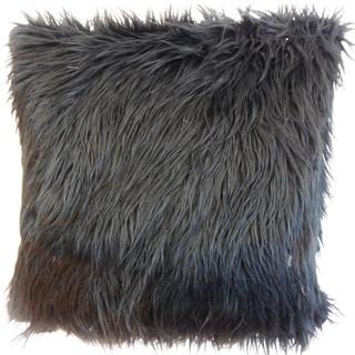 Valeska Faux Fur Euro Sham Black