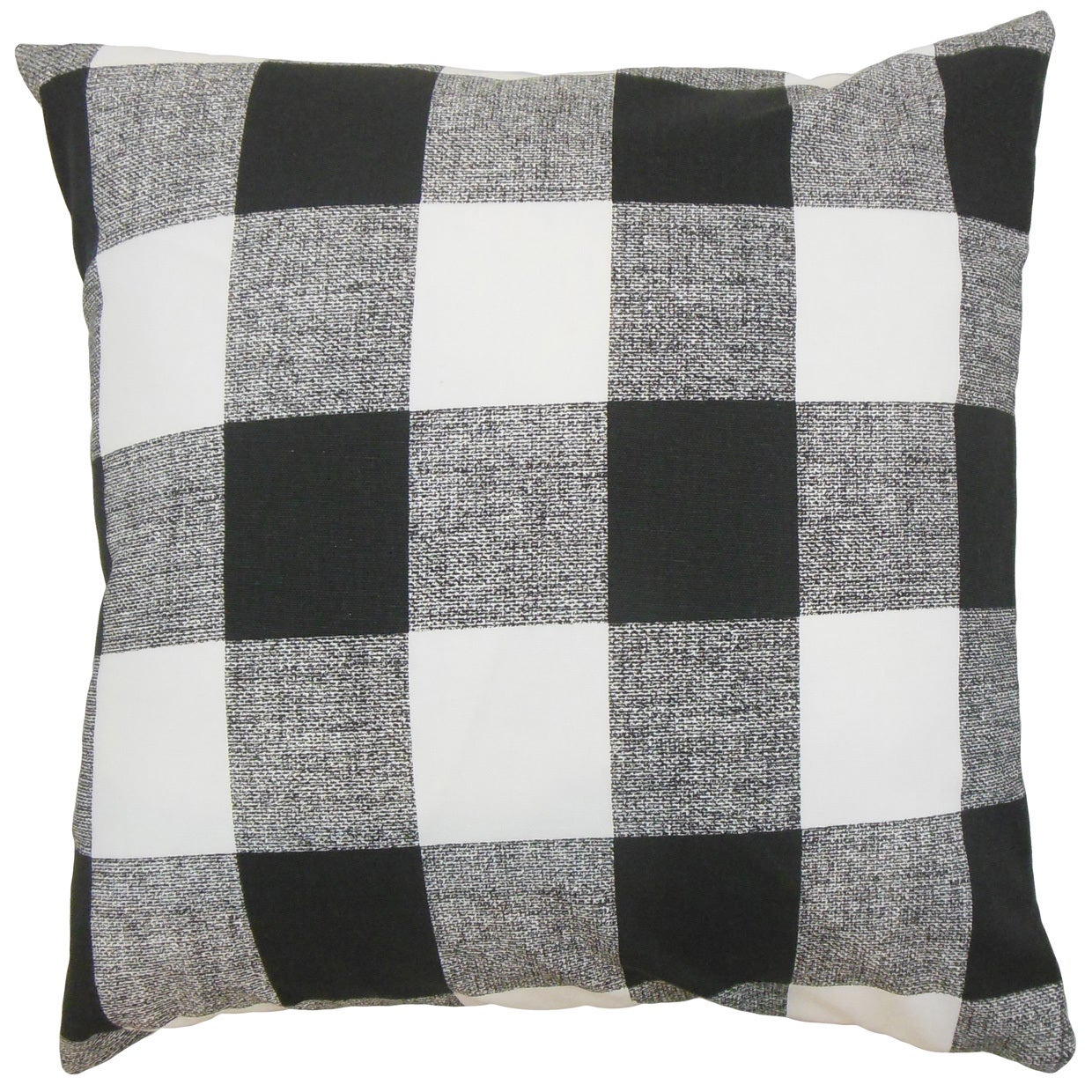 Alfonso Plaid Euro Sham Black White On Sale Overstock 13332344