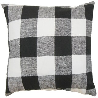 Alfonso Plaid Euro Sham Black White