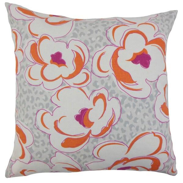 Ohara Floral Euro Sham Tangerine