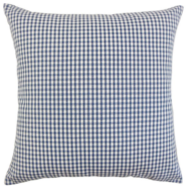 Keats Plaid Euro Sham Navy