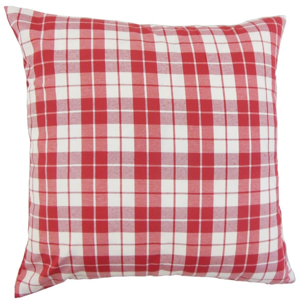 Joss Plaid Euro Sham Red