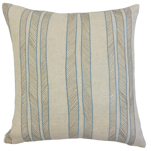 Drum Stripes Euro Sham Indigo