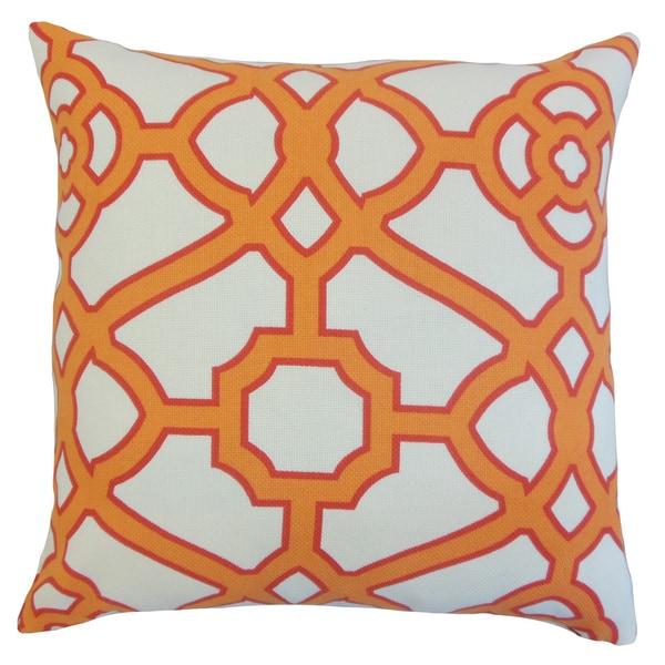 Umut Geometric Euro Sham Orange
