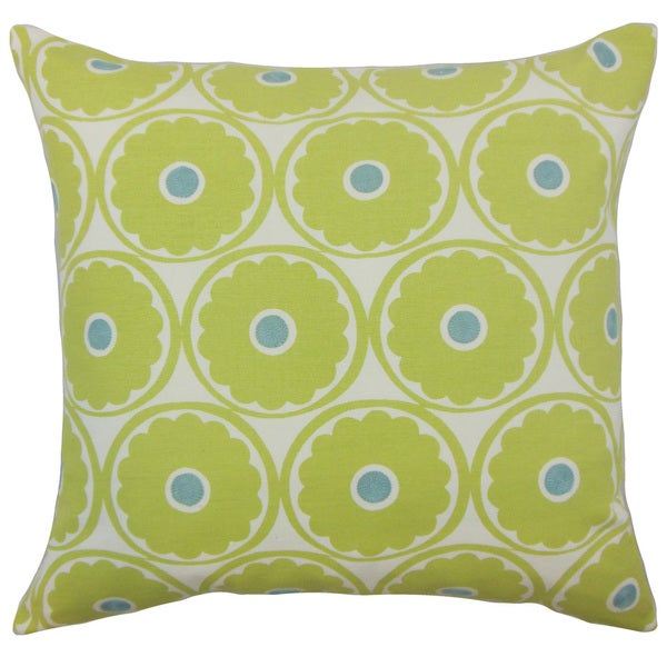 Day Floral Euro Sham Lime