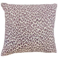 Pesach Animal Print Euro Sham Orchid