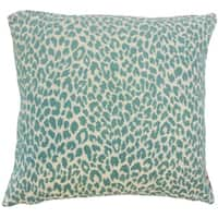 Pesach Animal Print Euro Sham Teal