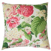 Kalonice Floral Euro Sham Rose Green