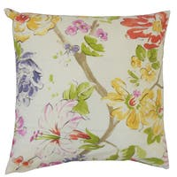 Feivel Floral Euro Sham Pink Green