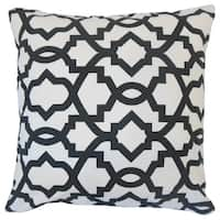 Daveney Geometric Euro Sham Black