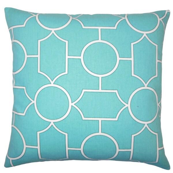 Samoset Geometric Euro Sham Turquoise