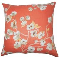 Taiki Floral Euro Sham Papaya