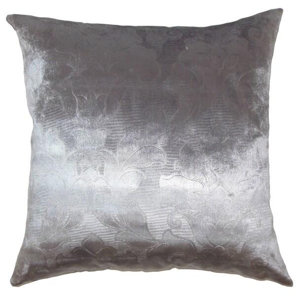 Yanisin Floral Euro Sham Silver
