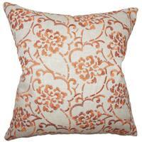 Zaltana Floral Euro Sham Orange