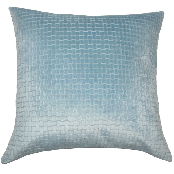 Jacobean Solid Euro Sham Light Blue