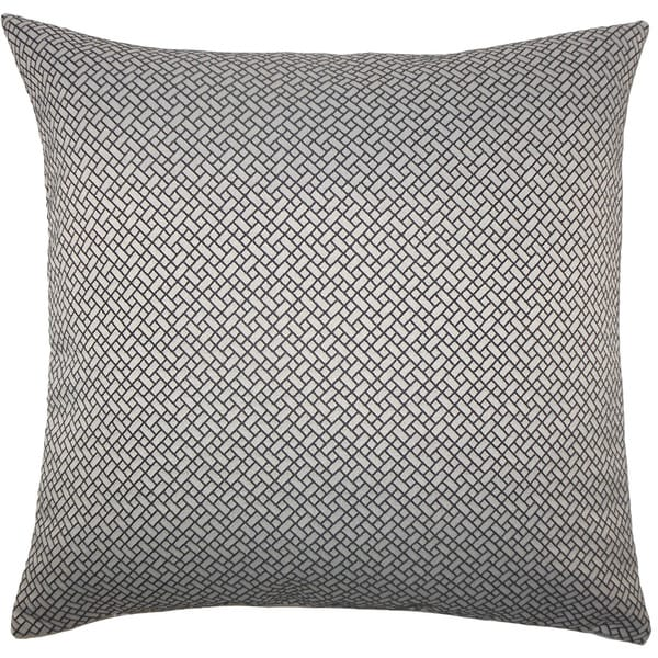 Pertessa Geometric Euro Sham Black White