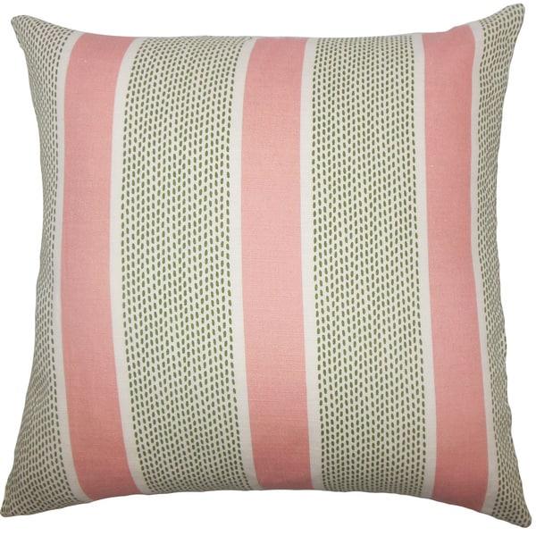 Velten Striped Euro Sham Pink Green