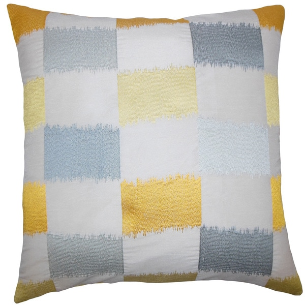 Ruchel Geometric Euro Sham Blue Yellow