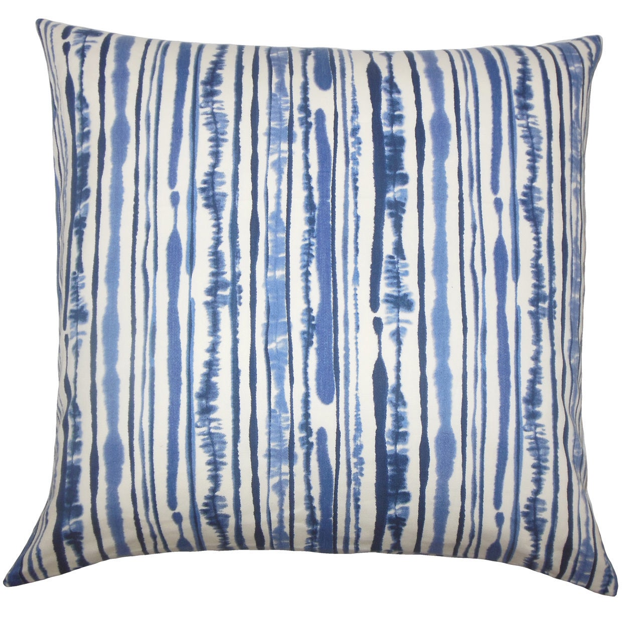 The Pillow Collection Jumoke Striped Euro Sham Navy (Blue...