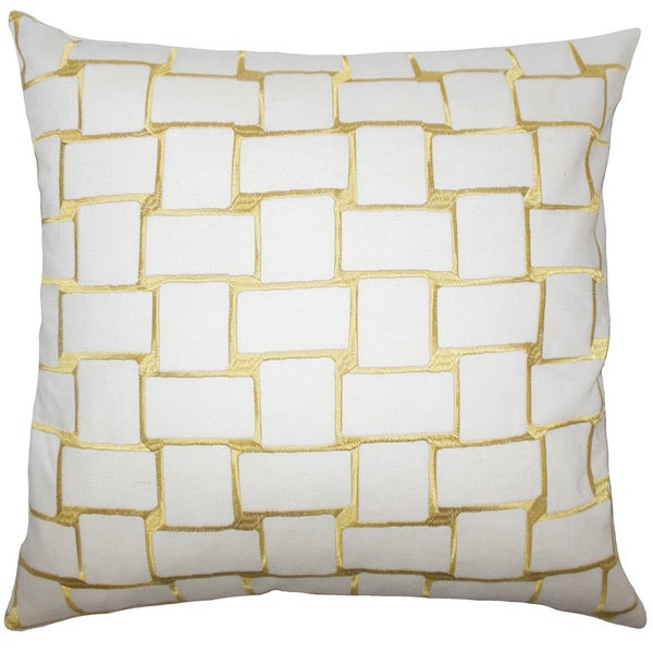 Kalyca Geometric Euro Sham Yellow