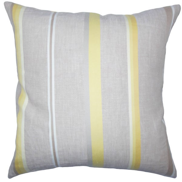 Oormi Striped Euro Sham Gray