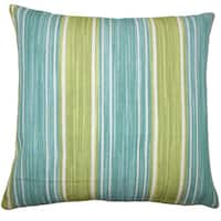 Ferlin Stripes Euro Sham Aqua Green