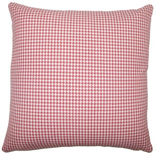 Occhave Houndstooth Euro Sham Red
