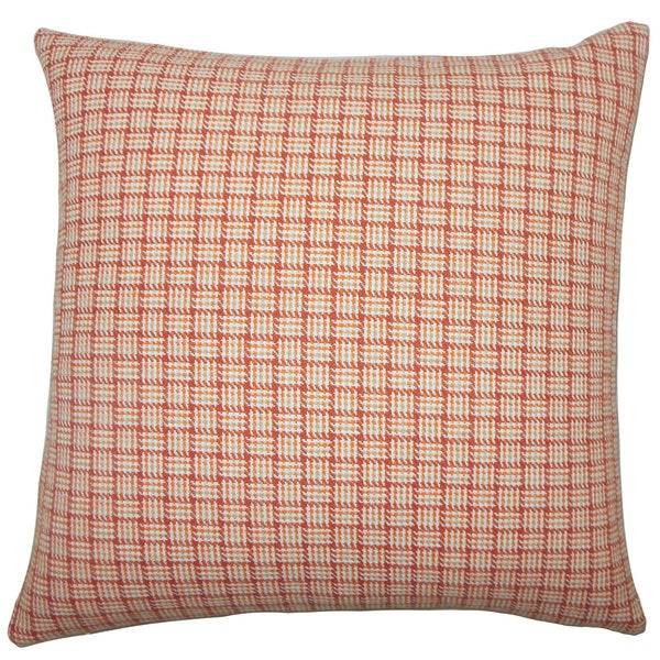 Quora Plaid Euro Sham Orange