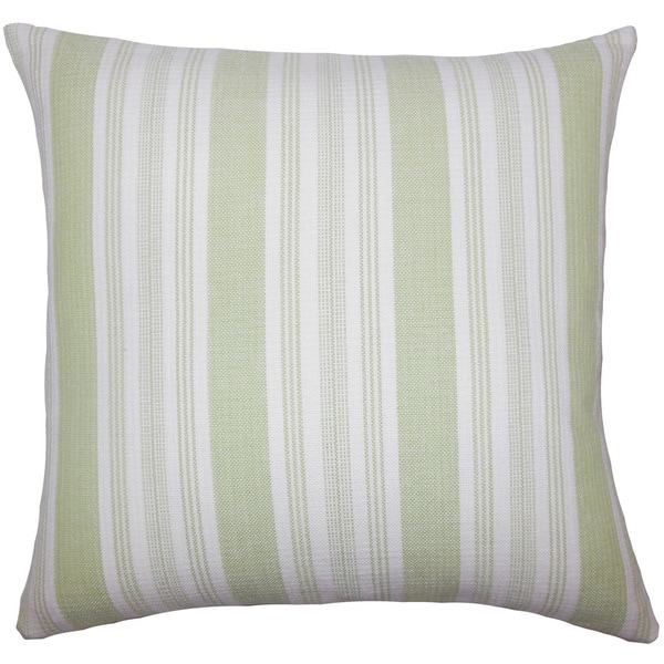 Reiki Striped Euro Sham Honeydew