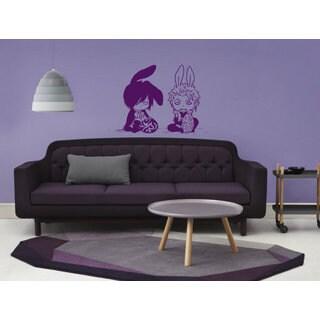 Anime decal, Anime stickers, Anime Vinyl, Boys bunnies, Boys bunnies Anime Sticker Decal size 22x26 Color Purple