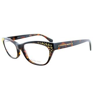 Alexander McQueen Women's AMQ 4222 TVD Havana Gold Plastic 53-millimeter Cat-eye Eyeglasses