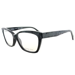 Alexander McQueen Women's Black and Blue Plastic Cat-eye Eyeglasses