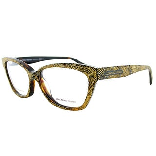 Alexander McQueen Women's Black and Goldtone Plastic Cat-eye Eyeglasses