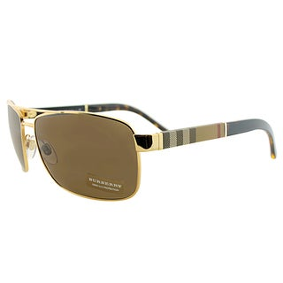 Burberry BE 3081 101773 Gold Metal Aviator Brown Lens Sunglasses