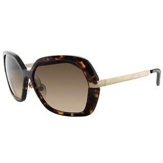 Burberry BE 4153Q 300213 Havana Gold Plastic Square Brown Gradient Lens Sunglasses