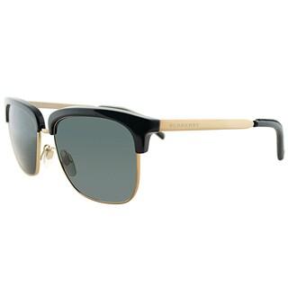 Burberry BE 4154Q 300187 Black Gold Plastic Square Grey Lens Sunglasses