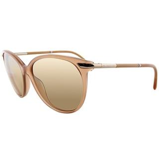 Burberry BE 4186 35093D Pink Plastic Cat-Eye Brown Gradient Lens Sunglasses