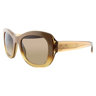 Burberry BE 4189 351213 Sand Plastic Cat-Eye Brown Gradient Lens Sunglasses