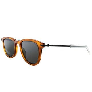 Dior Black Tie 195/S MZZ Havana Plastic Square Grey Lens Sunglasses