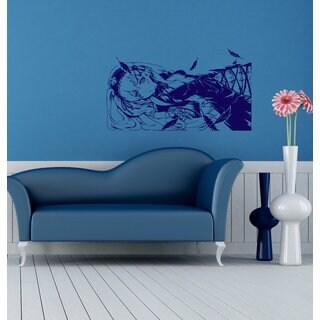 Anime decal, Anime stickers, Anime Vinyl, Beautiful girl, Beautiful girl Anime Sticker Decal size 22x35 Color Blue