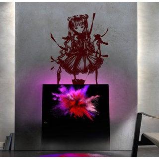Anime decal, Anime stickers, Anime Vinyl, Beautiful girl, Beautiful girl Anime Sticker Decall size 4