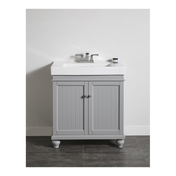 ove decors amber 30 inch mist grey single sink bathroom vanity