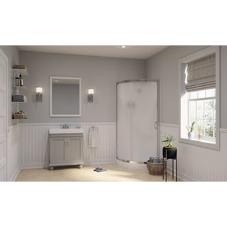 OVE Decors Amber 30 Inch Mist Grey Single Sink Bathroom Vanity