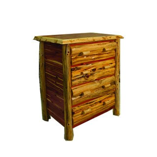 Rustic Red Cedar Log 4 Drawer Dresser