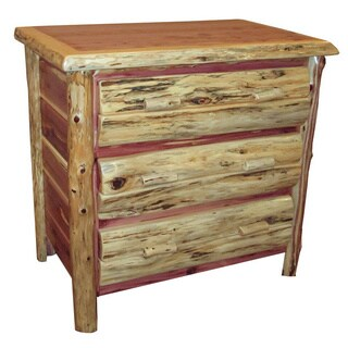Rustic Red Cedar Log 3 Drawer Dresser