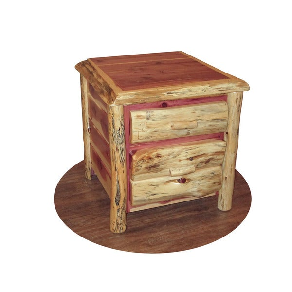 rustic red table cedar drawers chest of drawers